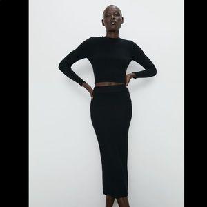 Zara NWT ribbed pencil skirt